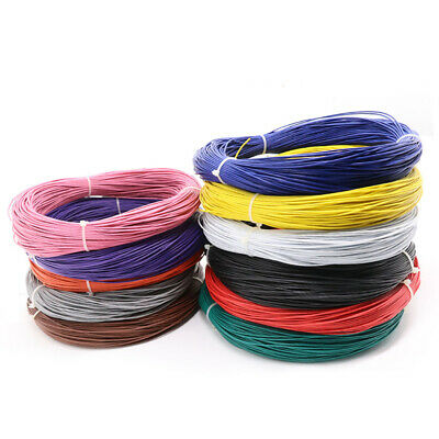 12-Colors 5 Meters x Strand UL1007 PVC Wire 16/18/20/22/24/26/28/30-AWG Cables