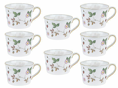 Wedgwood 50105507971 Wild Strawberry Pink Tea Cup, Set of 8