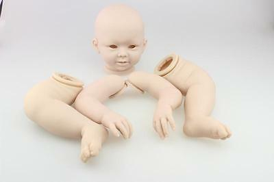 "23"" DIY Silicone Kits Reborn Baby Doll  Head Arms Legs Baby Doll Silicone Model"