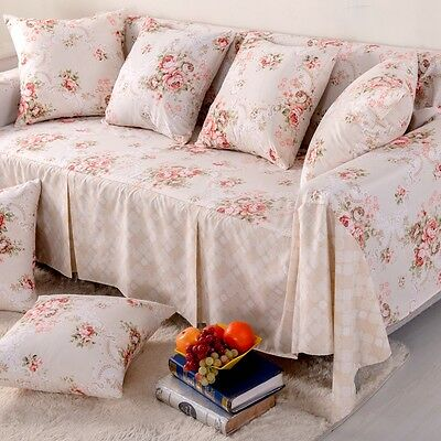 Flower LN Canva SlipCover Sofa Cover oAUl Protector for 1 2 3 4 seater KAUBT