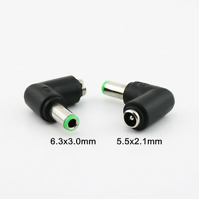 2x DC 5.5 x 2.1mm Female To 5.5 x 2.1mm Male Right Angle Power Adapter Connector