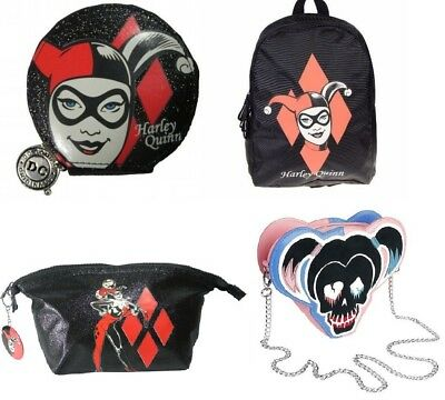 Harley Quinn Classic Backpack Coin Purse Bags Ladies DC Comics Merchandise New
