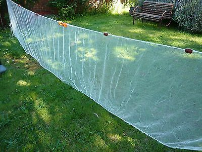 Bait Seine Drag Net - 10 mm (3/8ths inch) knotted white nylon mesh.
