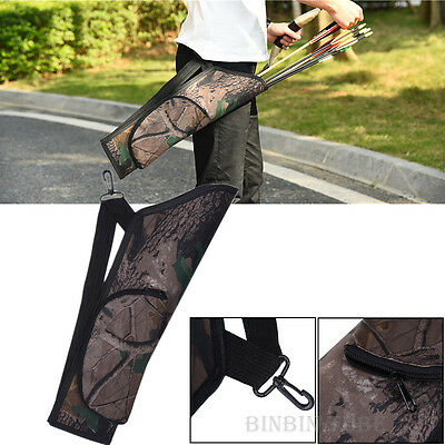 New Camouflage Hunt Bow Archery Quiver Arrow Pouch Holder Waist Bag Storage Case