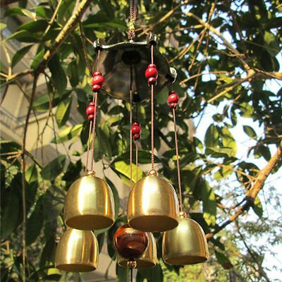 Chinese Bells Lucky Feng Shui Hanging Wind Chimes Yard Garden Outdoor Decor Gift