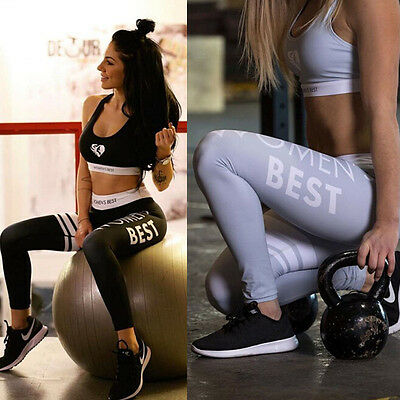 Women Yoga Sports Running Pants Leggings Stretchy Fitness Trousers Gym Clothes