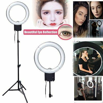 Studio Pro 40W 5400 Fluorescent Ring Lamp Light Beauty Make up + 90cm Stand 220V