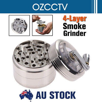4-layer Smoke Grinder Aluminum Herb Tobacco Grinders Hand Crank Herbal Silver