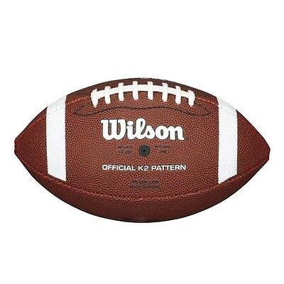 Wilson NFL PEE WEE FOOTBALL Size-1, Superior Grip, Brown/White *USA Brand