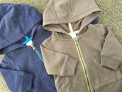 2 x Size 0-3M (000) ~ TINY LITTLE WONDERS ~ Zip Front Hoodies ~ AS NEW!
