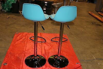 BAR STOOLS  (2x) Light Green