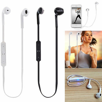 Wireless Bluetooth Earphone SPORT Stereo Headphone Headset for iPhone Samsung LG