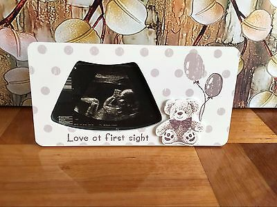 Teddy Bear Baby Bump Pregnancy Photo Frame Ultrasound Scan Baby Shower Gift