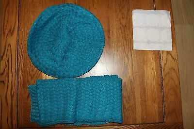 Mini Boden Girls Teal Hat & Scarf Set - Age 11-14 Years