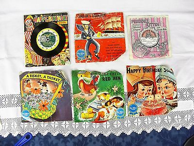 Vintage Children's Nursery SONGS BLUE RIBBON RECORDS