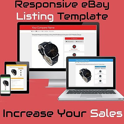 Professional eBay Listing Design | Mobile Friendly Dynamic Template Auction new