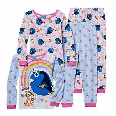 Finding Dory Nemo & Dory Girls 4 Piece Cotton Pajama Set