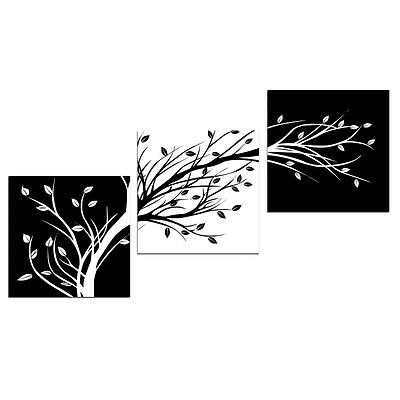 Abstract Canvas Print Painting Pic Home Decor Wall Art Trees Black White Framed