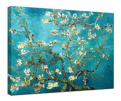 Almond Blossom by Van Gogh Painting Fine Art Canvas Print Reproduction Framed