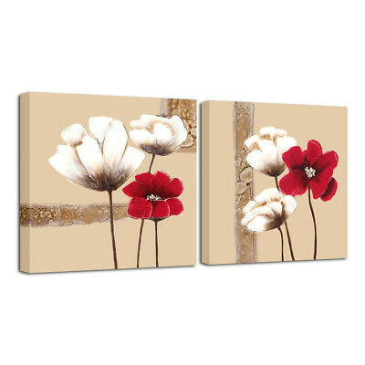 Canvas Print Painting Pic Abstract Flowers Landscape Wall Art Home Decor Framed