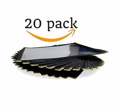 20 Pack Single Page Menu Cover | 8.5 x 11 inch Top Loading Holder | Double St...