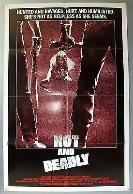 Hot And Deadly -Max Thayer / Shawn Hoskins- Original Usa One Sheet Movie Poster