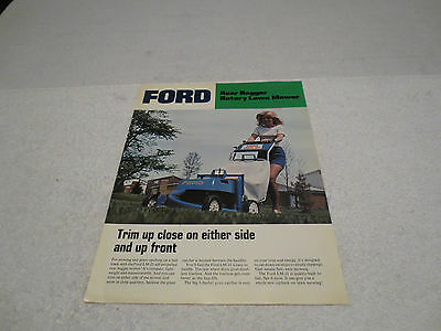 Vintage Ford Rear Bagger Rotary Lawn Mower Sales Literature Brochure