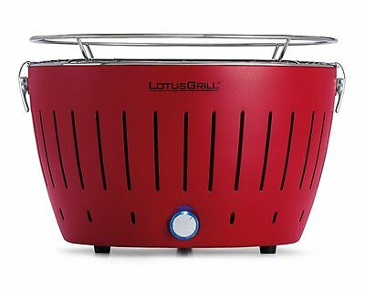 LotusGrill G-RO-34 Barbecue à Charbon Portable Rouge 35 cm