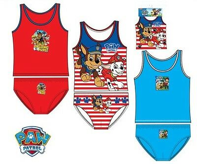 Official paw patrol vest pants set blue red striped 2-8 years free 2nd postage