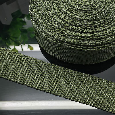 """New 5 Yards Length  3/4"""" 20mm Width Army Green Strap Nylon Webbing Strapping"""