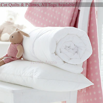 Anti-Allergy Cot Bed Duvet Quilt Pillow Nursery Baby Toddler Bedding 4.5 7.0 9.0