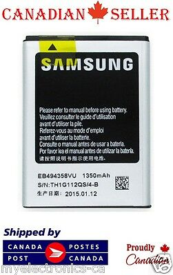 2 PC New Samsung EB494358VU EB-494358VU 1350mAh Galaxy Ace S5830 S5660  Battery