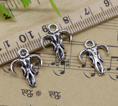 2~50pcs Retro Jewelry Making DIY Big Cow Skull Alloy Charms Pendant 49x34mm