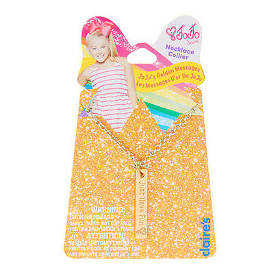 Just Have Fun JOJO SIWA Pendant NECKLACE READY TO POST! JoJo's Golden Messages