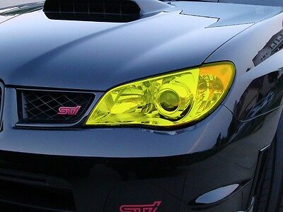 Fluorescent Yellow Headlight Tint 200Cm X 30Cm Covers 2 Headlights