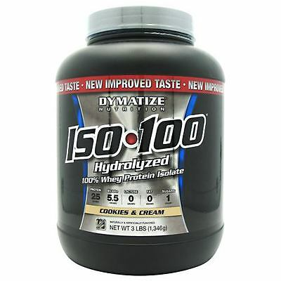 Iso-100 Cookies & Cream 3 lbs by Dymatize