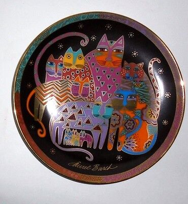 Laurel Burch Franklin Mint Cat Plate - Fabulous Felines