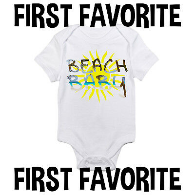 aa456d9ae Beach Baby Onesie Bodysuit Shirt Shower Gift Infant Newborn Clothes Funny  Gerber