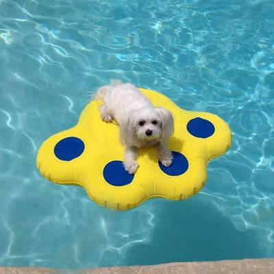 Paws Aboard Doggy Dog Pool Float Lazy Water Raft Puncture Resistant Small NEW