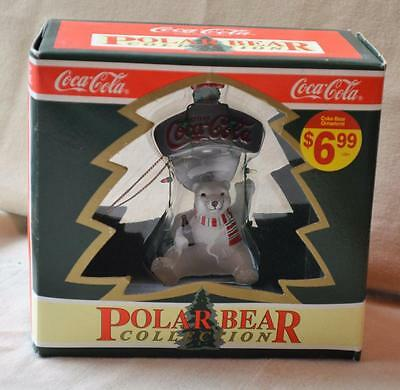 NIB 1995 COCA-COLA Polar Bear Collection POLAR BEAR on BOTTLE OPENER Ornament