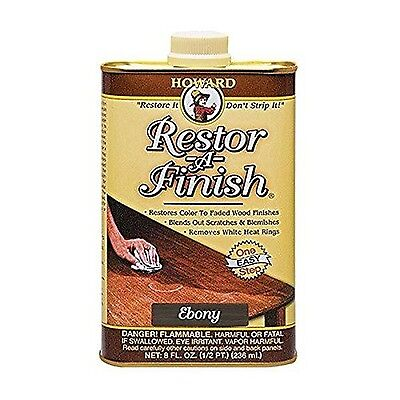 Howard Restor-A-Finish Ebony Brown 8oz 1-Pack NEW