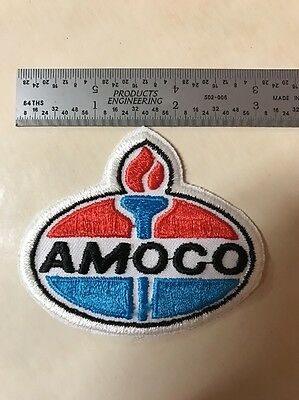 Used Vintage Amoco Employee Uniform Shirt Patch Oil Gas Petroleum Racing