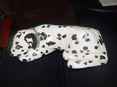 Nice Dalmation Dog Figurine Signed by Artist