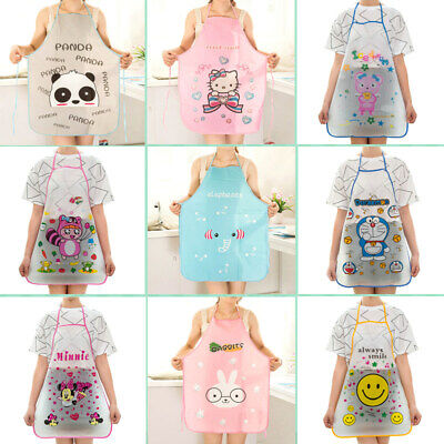 12 Motif Cartoon Femme Imperméable Tablier Maison Cuisine Bavoir Kitchen Apron