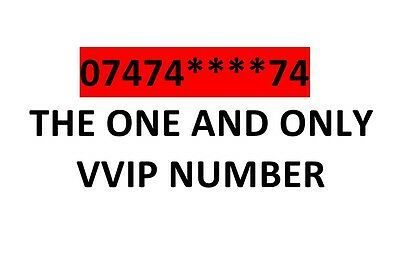 Lucky EXCLUSIVE DIAMOND GOLD PLATINUM EASY VIP MOBILE PHONE NUMBER 07474****74