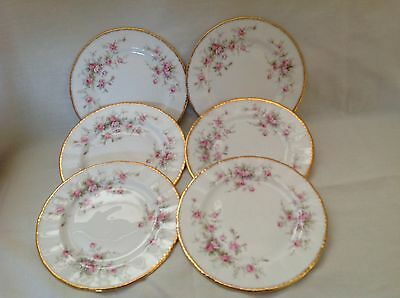 """6 X Paragon Victoriana Rose 6.25"""" Side Plates Almost Mint First Quality"""