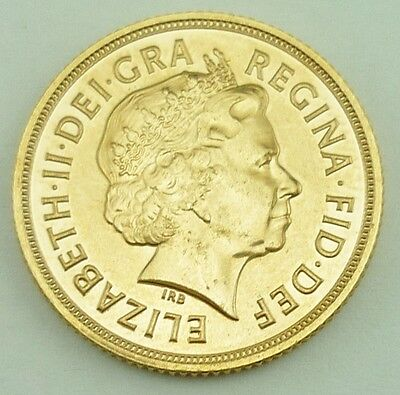 2012 Elizabeth II Great Britain 22k Gold Full Sovereign Coin UNCIRCULATED~3898B