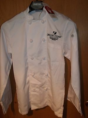 Chef Works OREGON CULINARY INSTITUTE Chef Jacket Coat XS NEW NWT- white