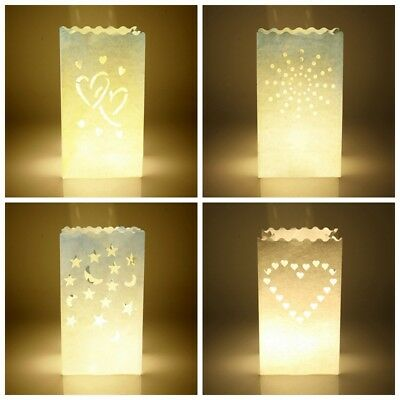 10Pc/Lot Star Xmas Tealight Holder Candle Paper Bag Lantern Wedding Party Decor