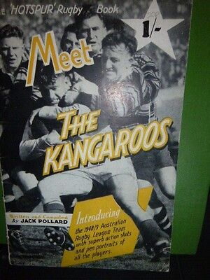 Hotspur Book Celebrating The 1948/49 Kangaroos Australia Rugby League Team